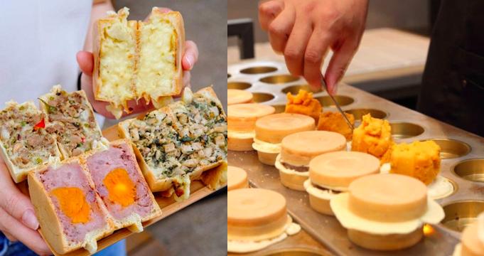 青畑九號豆製所販售的車輪餅真材實料,是當地小有名氣的下午茶店鋪。圖/青畑九號豆製...