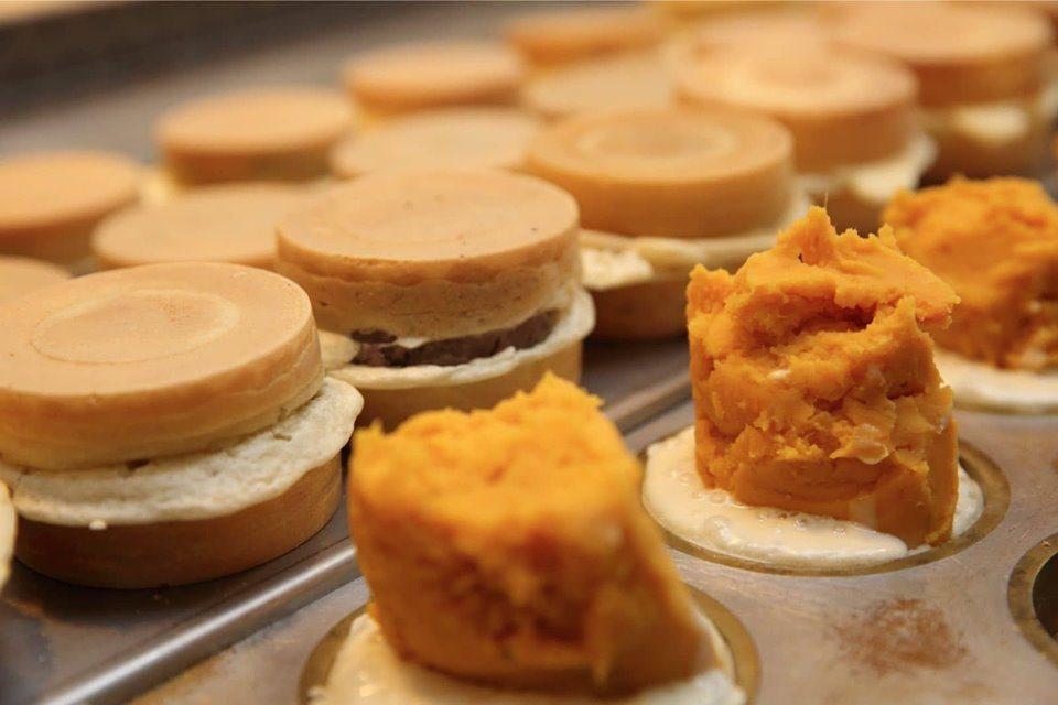 皮薄內餡實在是青畑九號車輪餅的大亮點。圖/青畑九號豆製所提供