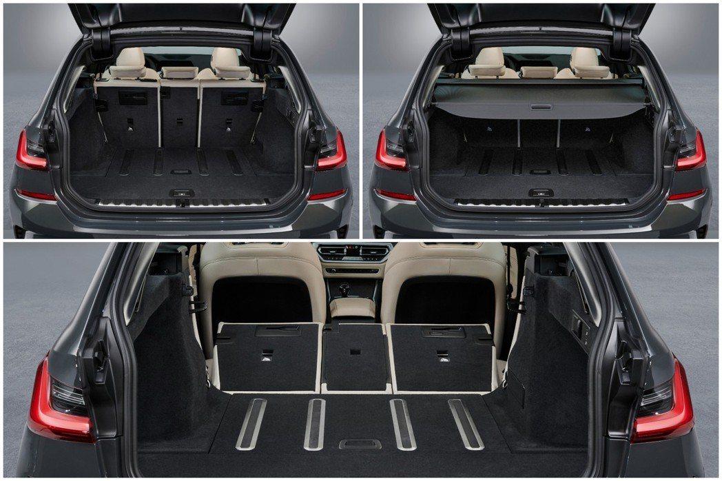 新世代BMW 3 Series Touring (G21) 在後座全數傾倒後,行...
