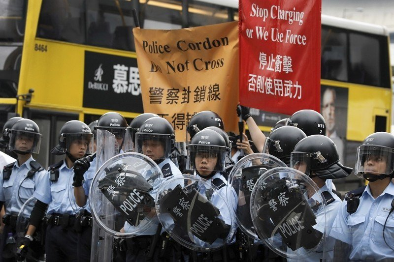 攝於6月12日,香港。 圖/美聯社