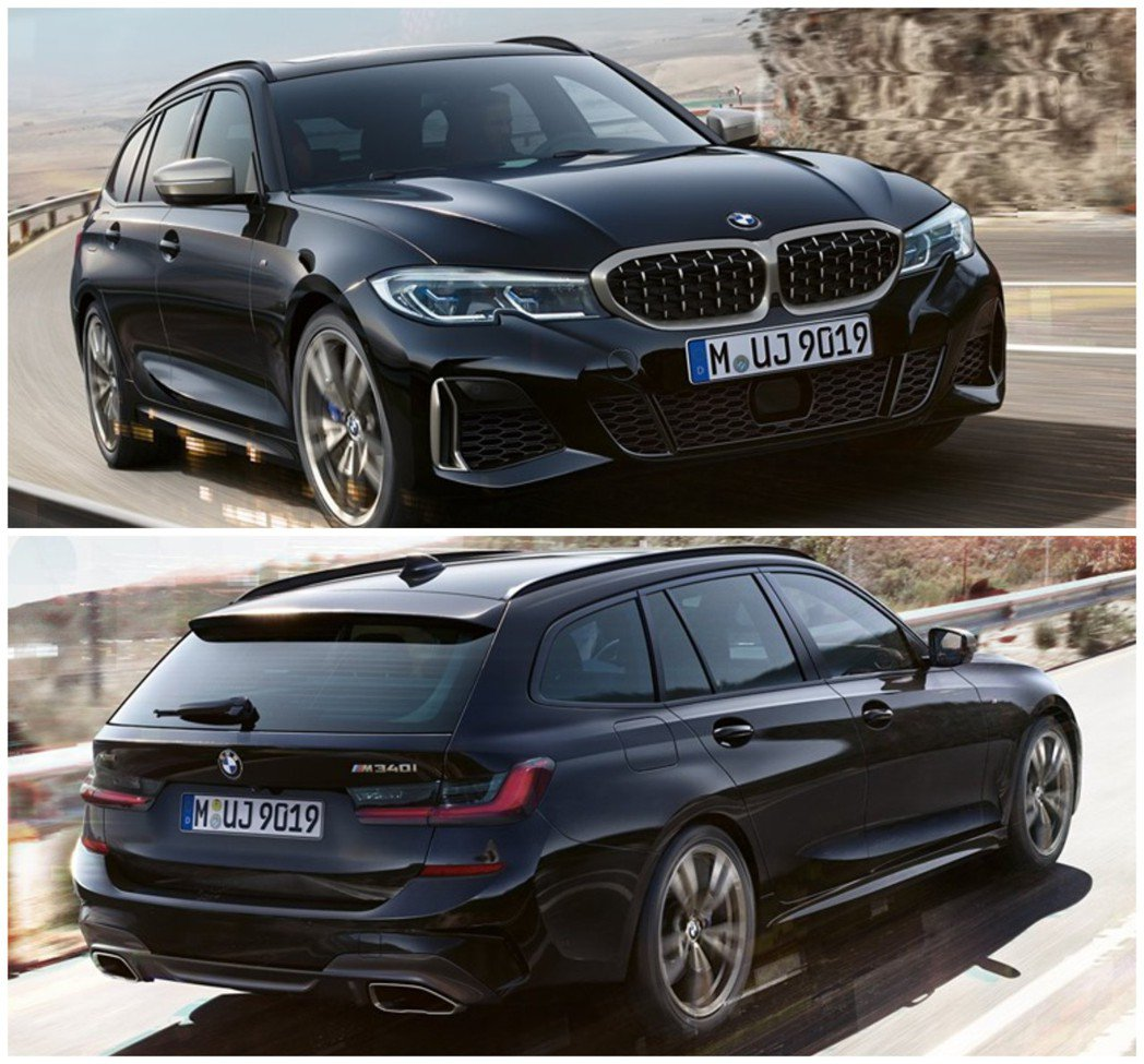 全新BMW M340i xDrive Touring。 摘自BMW