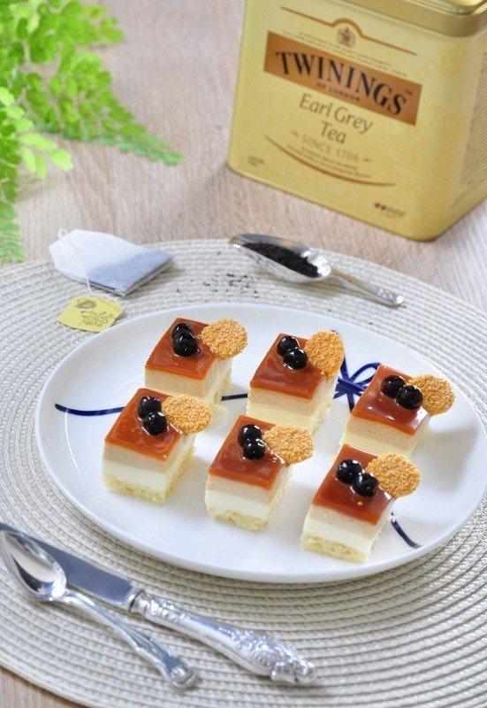 焦糖伯爵珍珠慕斯蛋糕。 台北凱撒/提供