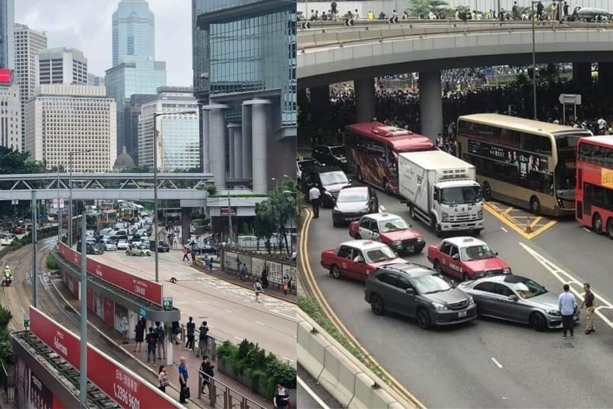 支援反送中?香港街頭多起連環車禍 網友猜故意這樣做