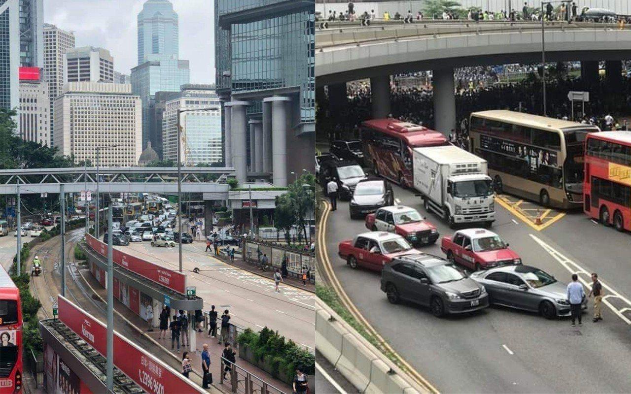 香港街頭一早便有多起連環車禍發生,引起網友熱議。圖擷自/PTT