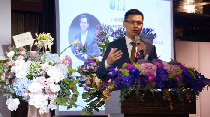 第五屆理事長蔡漢霖總經理致詞。