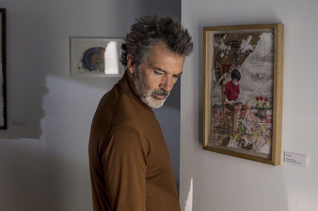 安東尼奧班德拉斯以阿莫多瓦新片「痛苦與榮耀」獲得坎城影帝。。圖/台北電影節提供