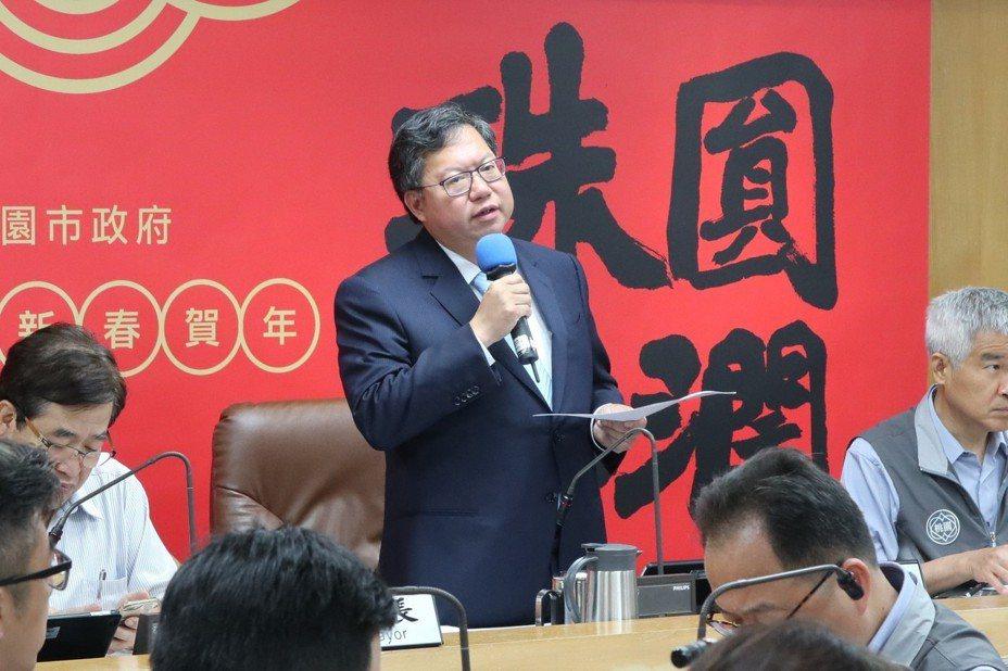 桃園市長鄭文燦今日上午於市政會議中宣布,虎頭山物聯網創新園區將於6月18日正式啟用。記者許政榆/攝影