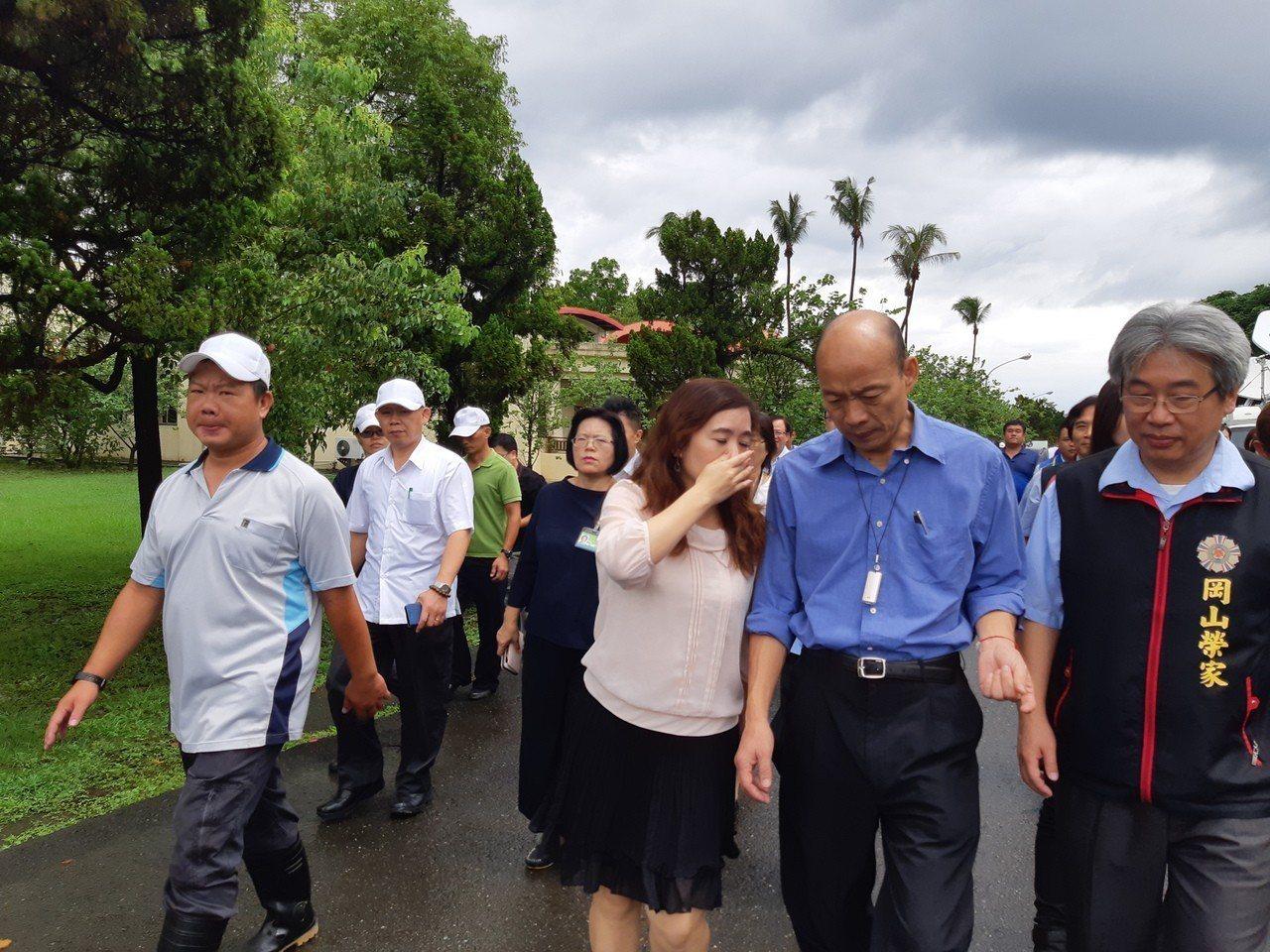 高雄市長韓國瑜視察岡山榮民之家,替汛期安置提前準備。記者賴郁薇/攝影