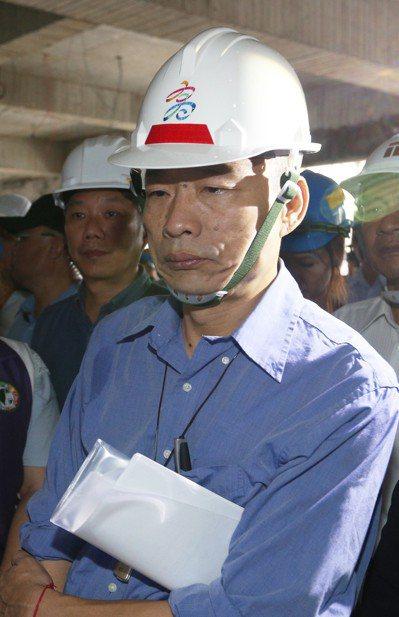高雄市長韓國瑜強調不會當放煙火的市長。記者劉學聖/攝影