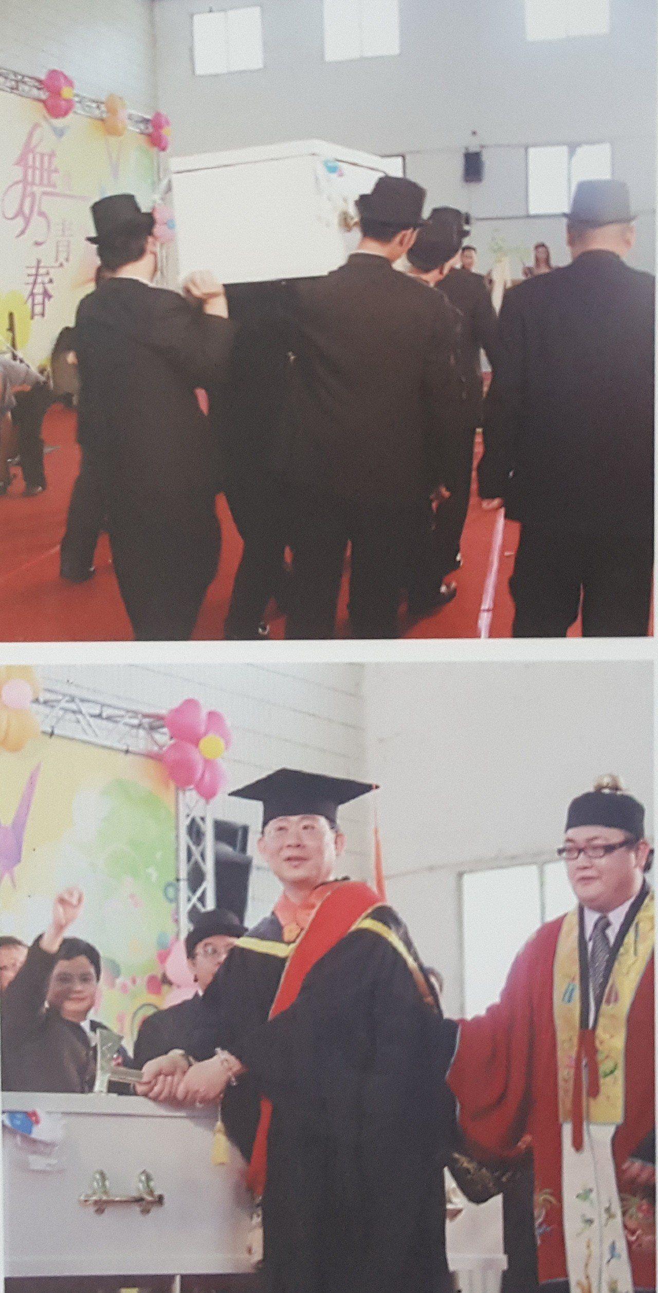 仁德生關科學生往年在畢業典禮大玩創意,曾出現抬棺、法師引導進場、畢業生穿壽衣等場...