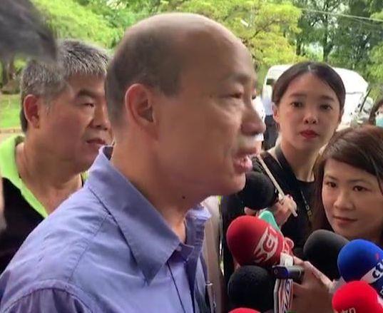 高雄市長韓國瑜今天被問到對香港「反送中」的看法,表示完全無法接受港澳的一國兩制,...