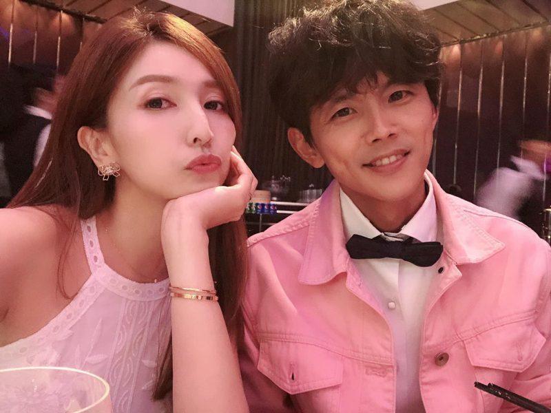 藝人阿翔與妻子Grace合照。圖/取自Grace臉書