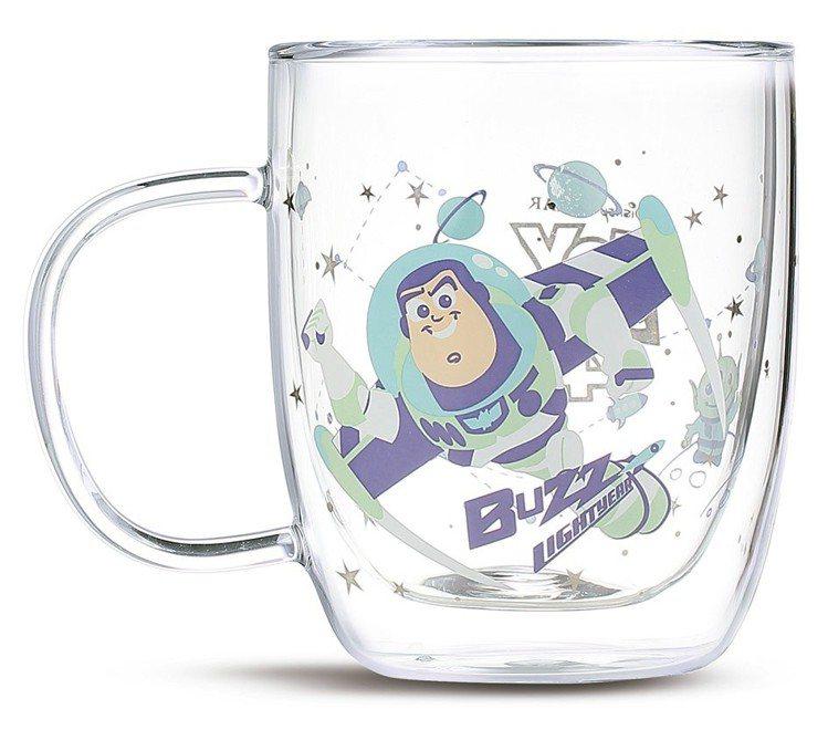 HOLA迪士尼系列玩具總動員雙層玻璃杯-巴斯光年,6月20日起特價499元。圖/...