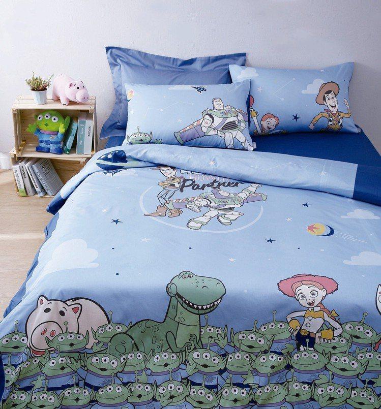 HOLA迪士尼系列玩具總動員純棉床被組,6月20日起單人款特價3,880元、雙人...