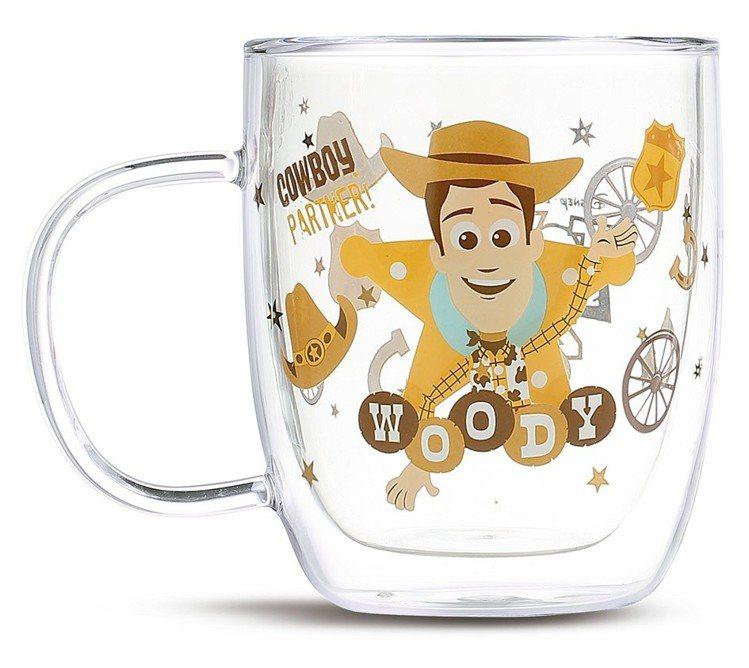 HOLA迪士尼系列玩具總動員雙層玻璃杯-胡迪,6月20日起特價499元。圖/HO...