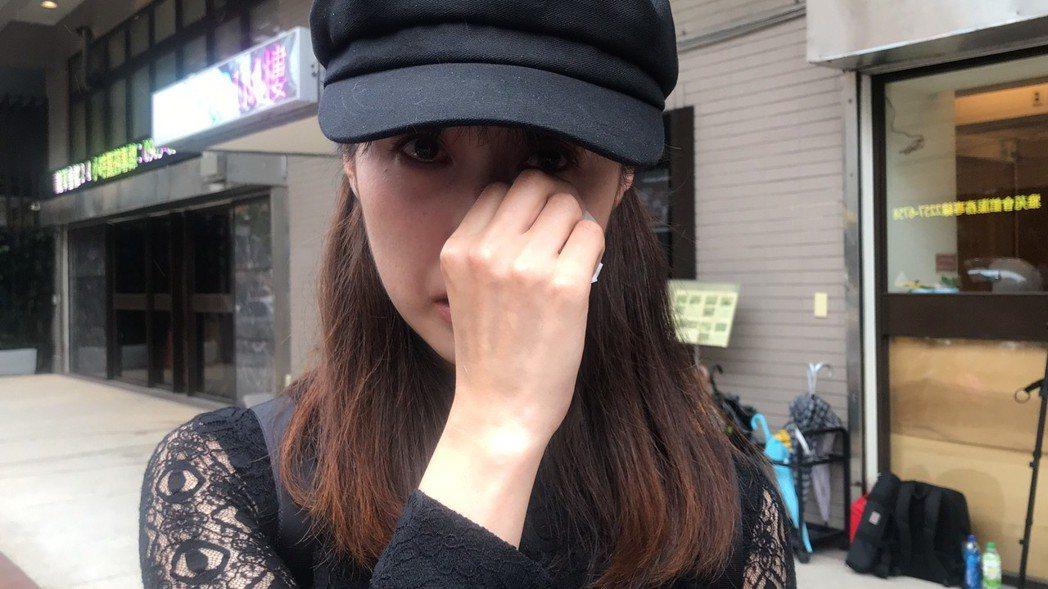 田中千繪憶起馬如龍止不住淚。記者黃保慧/攝影