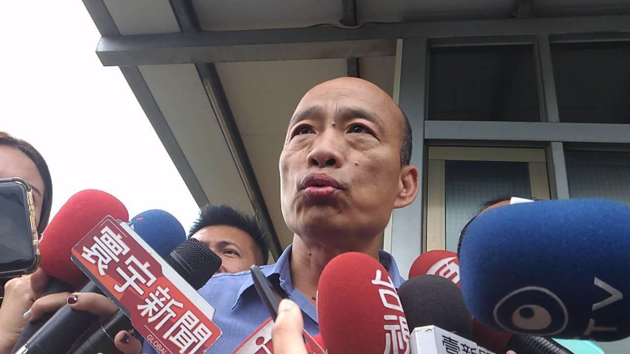 高市長韓國瑜下午受訪。記者蔡孟妤/攝影