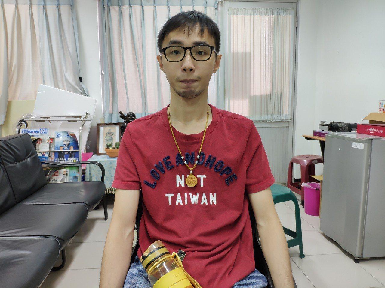 台灣首府大學資訊與多媒體設計學系學生韓文昊。記者謝進盛/攝影