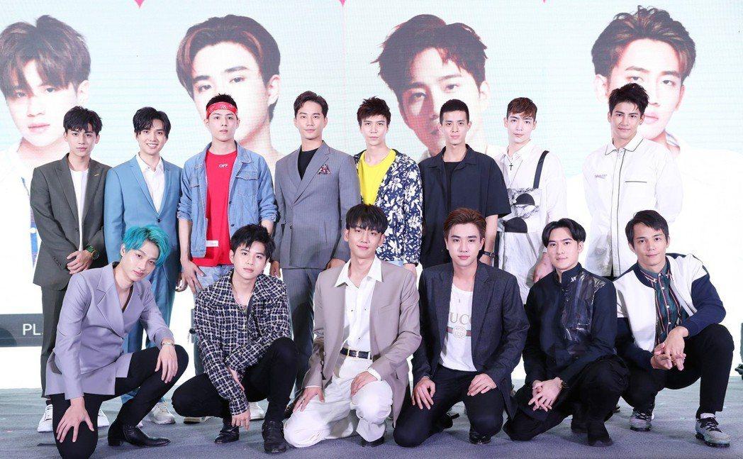 達騰娛樂與中國最大中泰娛樂經紀公司漢森娛樂在上海電視節共同舉辦泰劇發佈會。圖/達