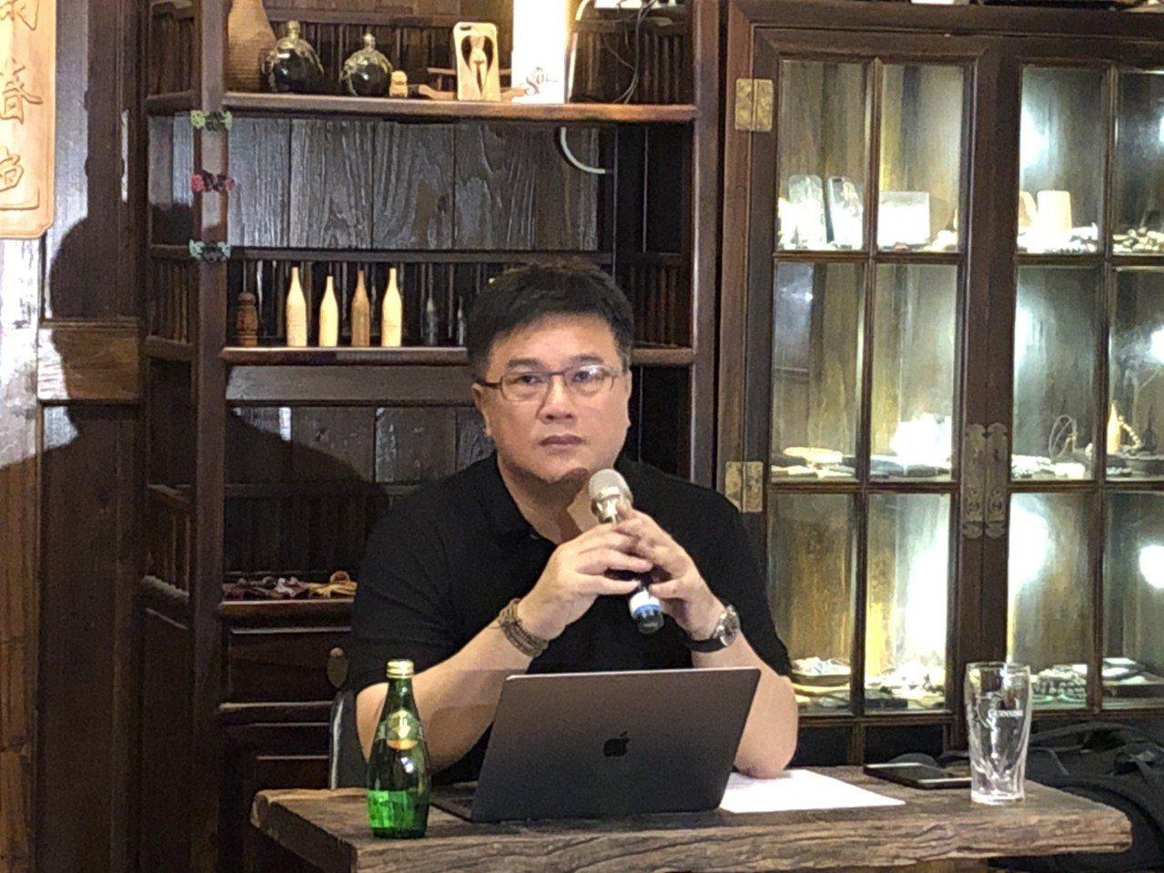 MLD董事長宋宸鏞召開記者會,說明微風南山3餐廳緣由。圖/天耘策略提供