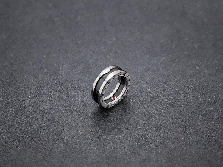 寶格麗Save The Children銀質黑陶瓷戒指,約17,500元。圖/B...