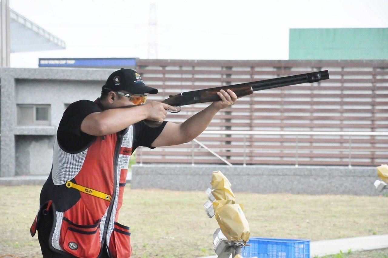 李孟遠是拿坡里世大運中華射擊隊唯一的定向飛靶選手。記者曾思儒/攝影