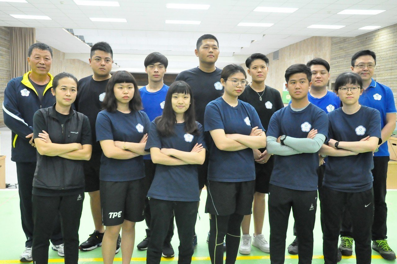 中華代表團的射擊代表隊。記者曾思儒/攝影
