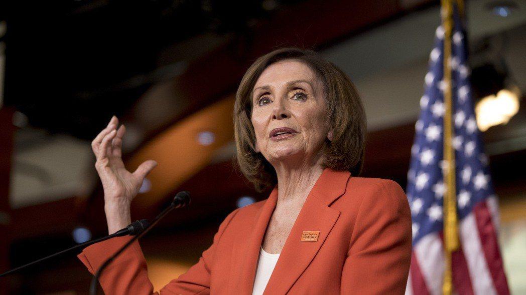 美國眾議院議長裴洛西(Nancy Pelosi)。    美聯社