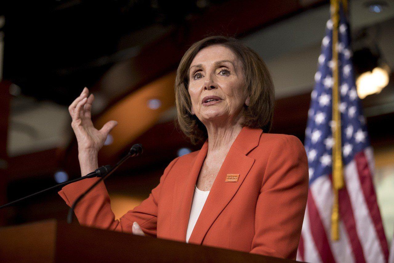 美國眾議院議長波洛西(Nancy Pelosi)。美聯社
