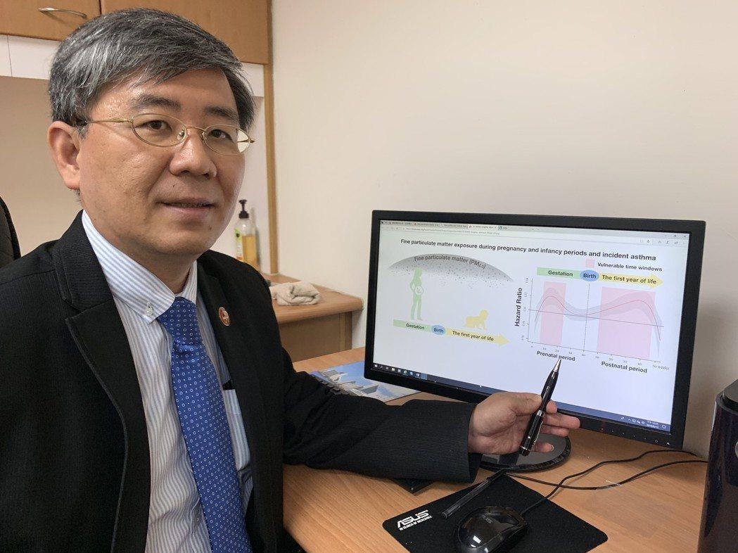 中國醫藥大學公共衛生學院教授黃彬芳研究團隊發現,PM2.5導致氣喘的關鍵時期是在...