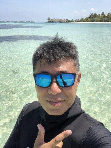 偵查佐王昱凱愛上潛水運動,擁有潛水教練執照。 圖/王昱凱提供