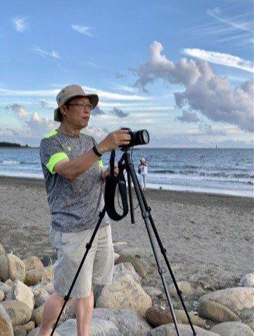 台南市警四分局警務佐陳文瑞,在安平漁光島拍攝濱海風光。 圖/陳文瑞提供