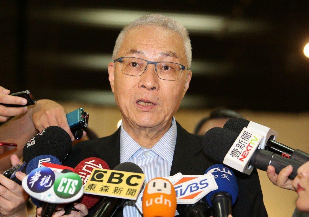 國民黨黨主席吳敦義長年飽受「白賊義」外號困擾。 圖/聯合報系資料照片