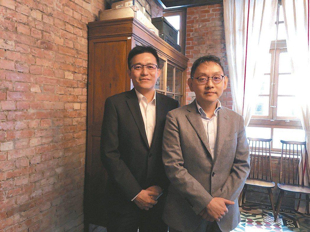 瀚宇博董事長焦佑衡(右)與總經理陶正國 記者尹慧中/攝影