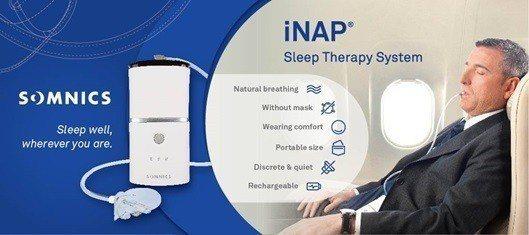 萊鎂醫的iNAP One睡眠呼吸治療裝置。 萊鎂醫/提供