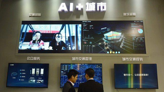 科大訊飛去年底在浙江國際智慧交通產業博覽會展出的城市超腦。新華社