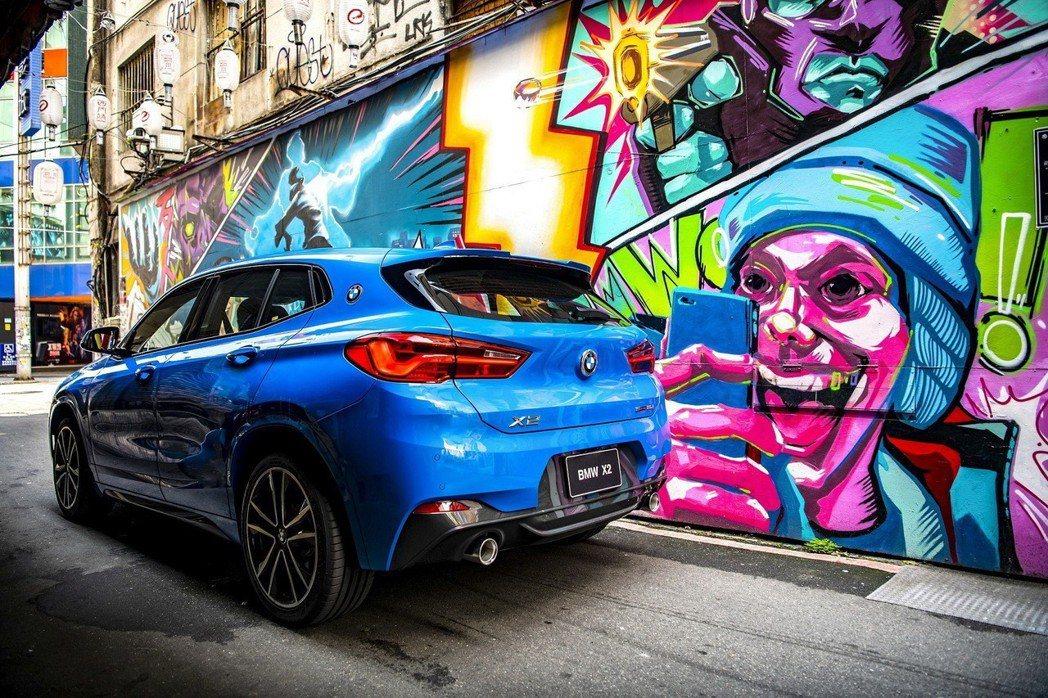 全新2020年式BMW X2領航版正式抵台 配備升級更搶眼。 圖/汎德提供