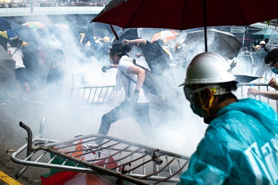 攝於6月12日,香港。 圖/法新社