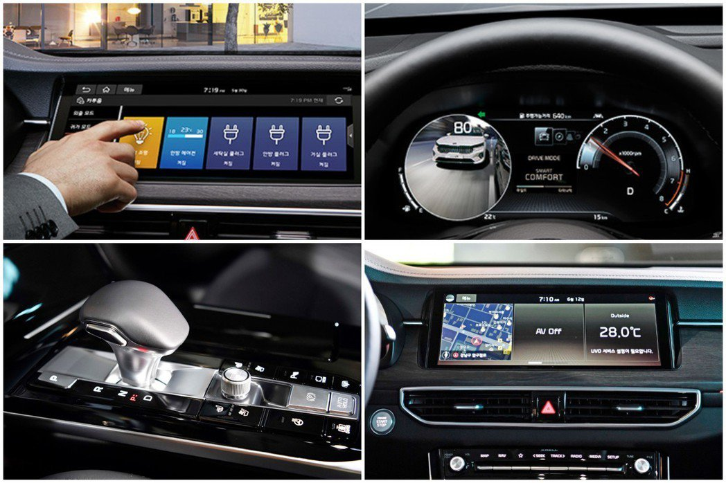 小改款Kia K7 Premier首度使用名為Home to Car的互聯網功能...