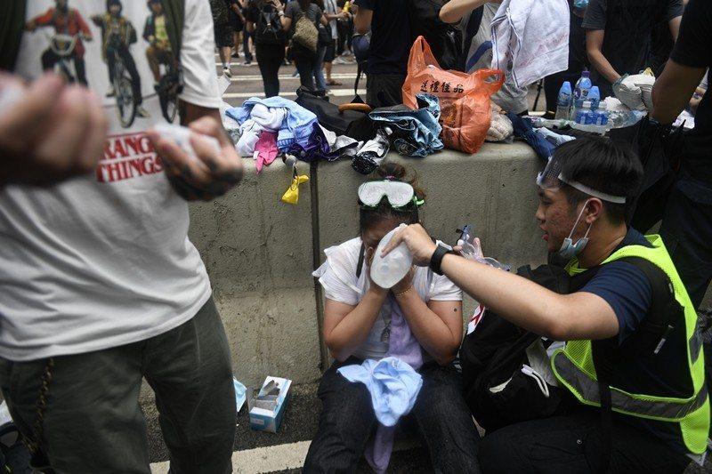 攝於6月12日,香港。 圖/歐新社