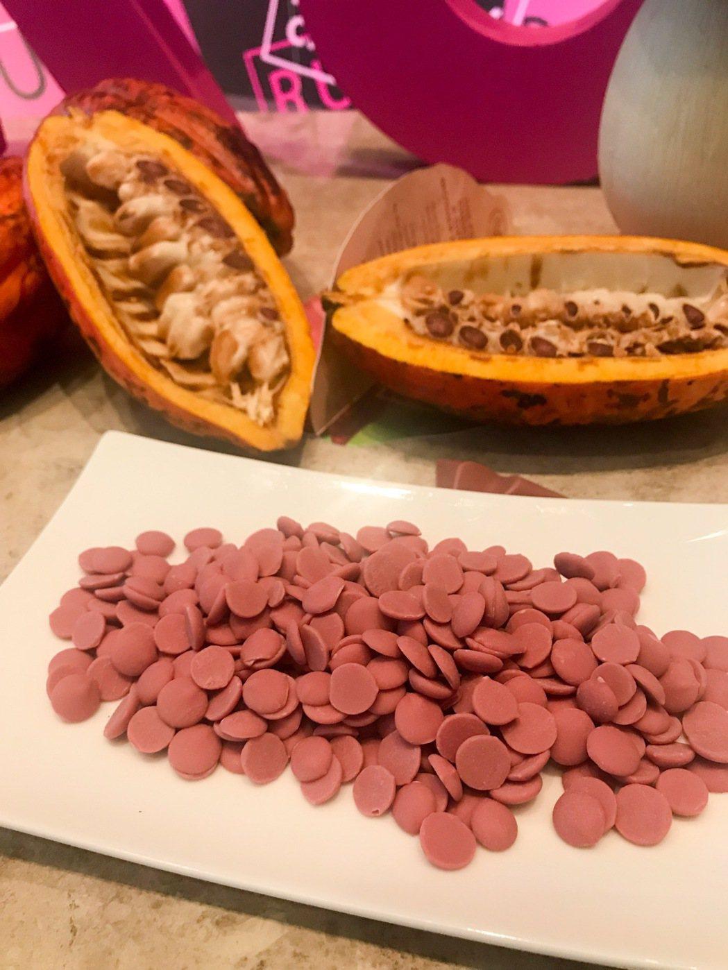 「紅寶石巧克力(Ruby Chocolate)」採用生長在巴西、象牙海岸和厄瓜多...