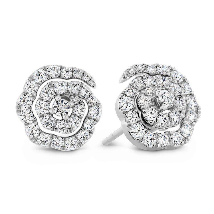 LORELEI慈善珠寶系列耳環,白K金鑲嵌鑽石總重約0.58克拉,11萬2,00...