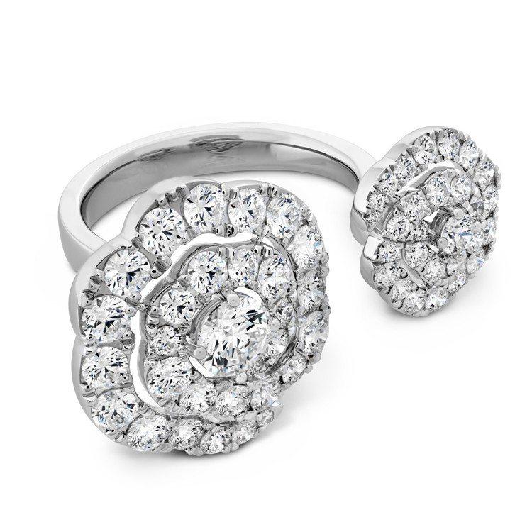 LORELEI慈善珠寶系列跨指戒,白K金鑲嵌鑽石總重約2.6克拉,42萬5,00...