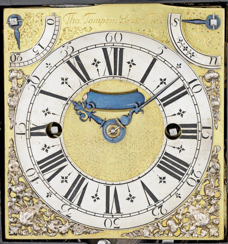 「皇家Tompion座鐘」正面細節。圖/邦瀚斯提供