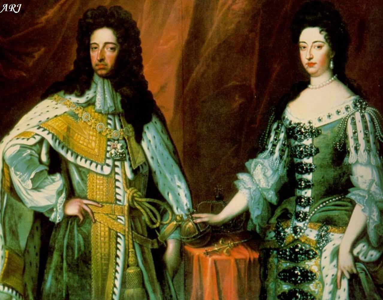 英王威廉三世與女王瑪麗二世。圖/邦瀚斯提供