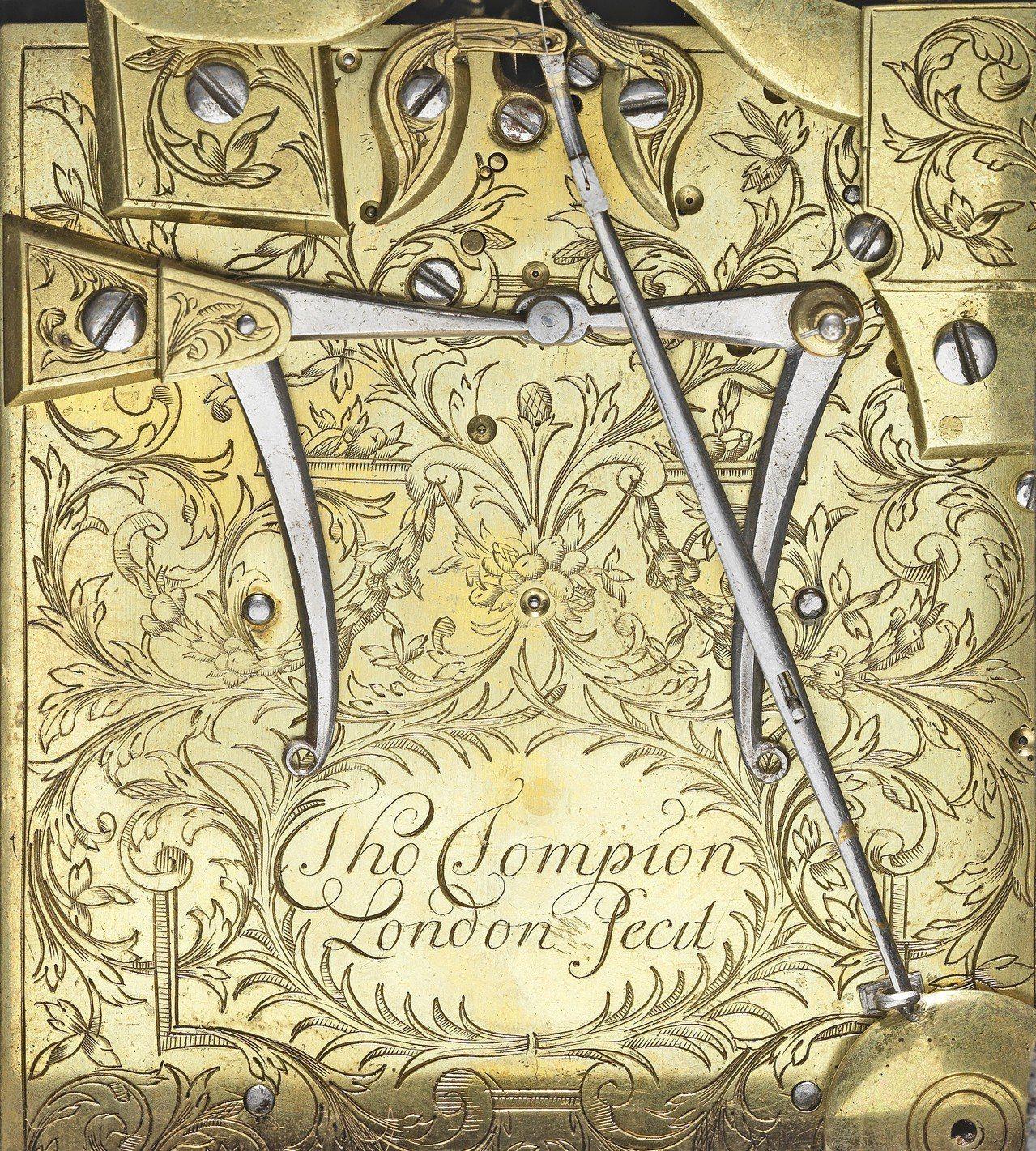 「皇家Tompion座鐘」背面細節。圖/邦瀚斯提供