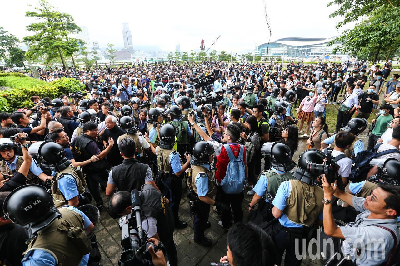 反送中示威警民衝突。特派記者王騰毅/攝影