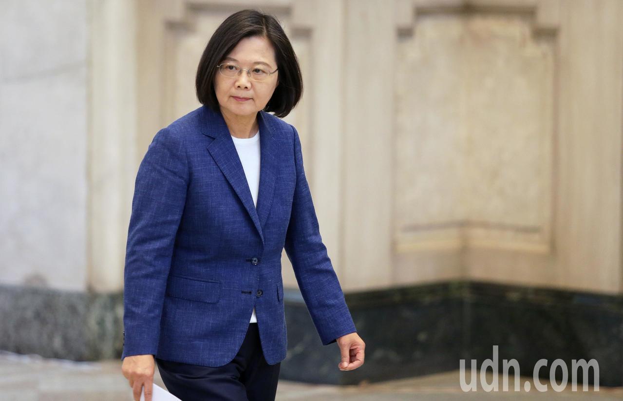 蔡英文總統力挺香港「反送中」運動。記者胡經周/攝影