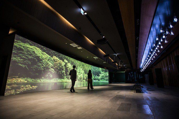 前往台北101觀景台的5樓入場展區,透過超大投影幕呈現台灣之美。圖/台北101提...