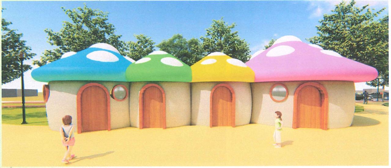 瓢蟲溜滑梯、蘑菇親子廁所 竹南頭份親子公園眾所期待
